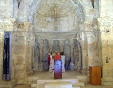 Innenraum der Kirche in Hah