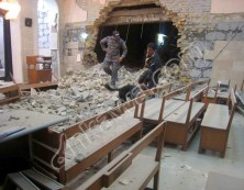 Zerstörte Syrisch Orthodoxe St. Ephrem Kirche in Kirkuk