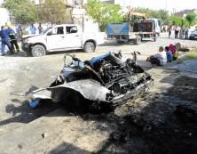 39. Bild: Unsicherheit auf den Straßen, auch in Kirkuk: Autobombe explodierte.