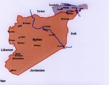 Syrien Karte.